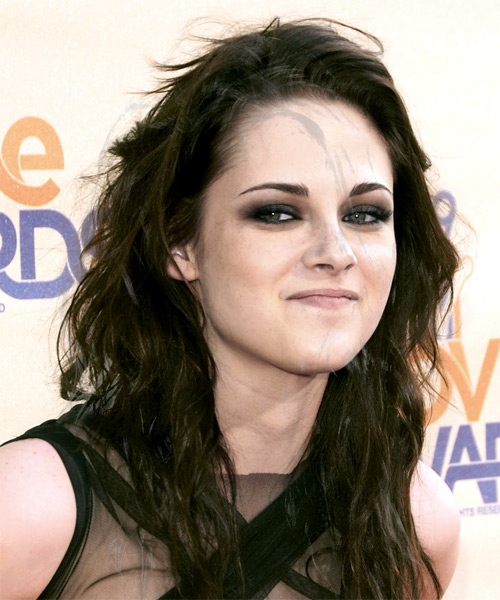 Kristen Stewart Long Wavy Casual Hairstyle - side on view