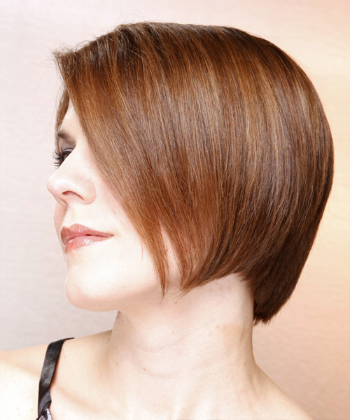 Medium Straight Formal Bob Hairstyle (Chestnut) - side view 2