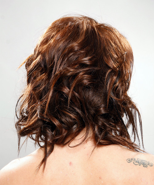 Long Wavy Alternative Hairstyle - side on view