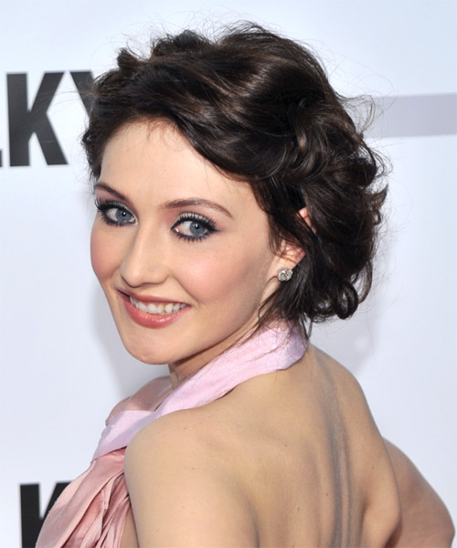 Carice van Houten Curly Formal Updo Hairstyle - side on view