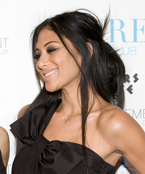 Nicole Scherzinger Long Straight Hairstyle - side view 2