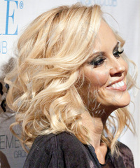 Jenny McCarthy Long Wavy Formal  - side on view