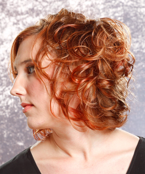 Medium Curly Formal Hairstyle - side view