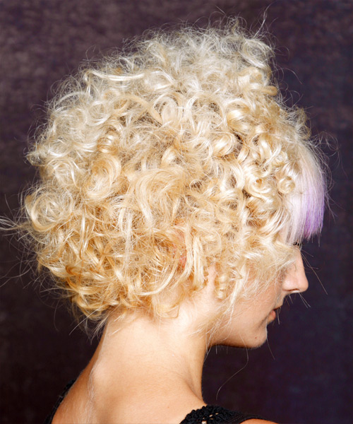 Alternative Short Curly Hairstyle - side view