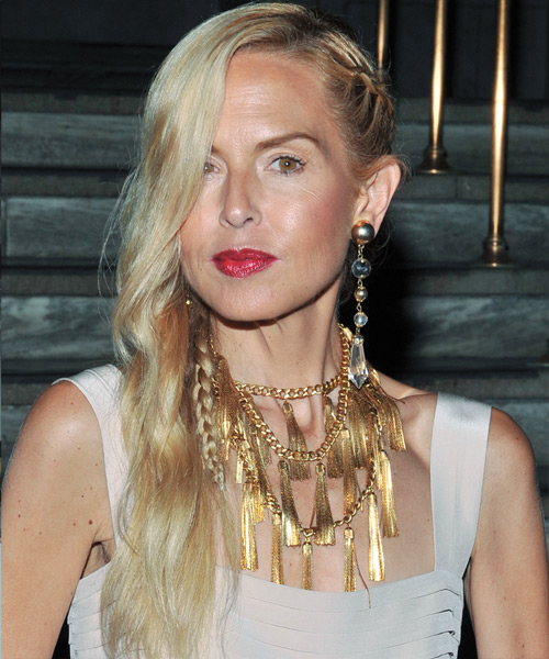 Rachel Zoe Long Wavy Casual Hairstyle - Light Blonde Hair Color - side on view