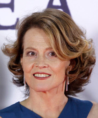 Sigourney Weaver - Medium Wavy - side view