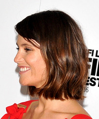 Gemma Arterton - Medium Wavy - side view