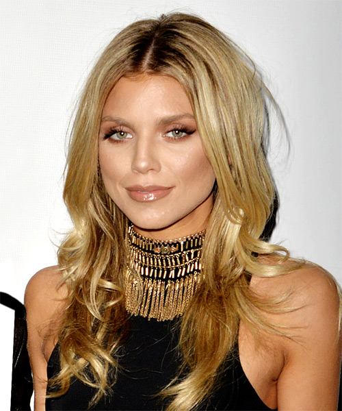 AnnaLynne McCord Long Straight Hairstyle - Medium Blonde - side view