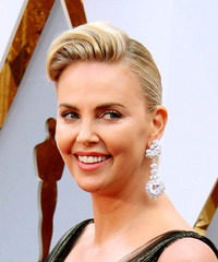 Charlize Theron - Medium Wavy - side view