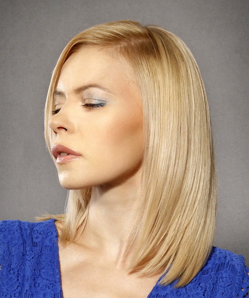 Medium Straight Formal Bob - side on view