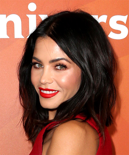 Jenna Dewan Medium Straight Bob Hairstyle - Dark Brunette - side view
