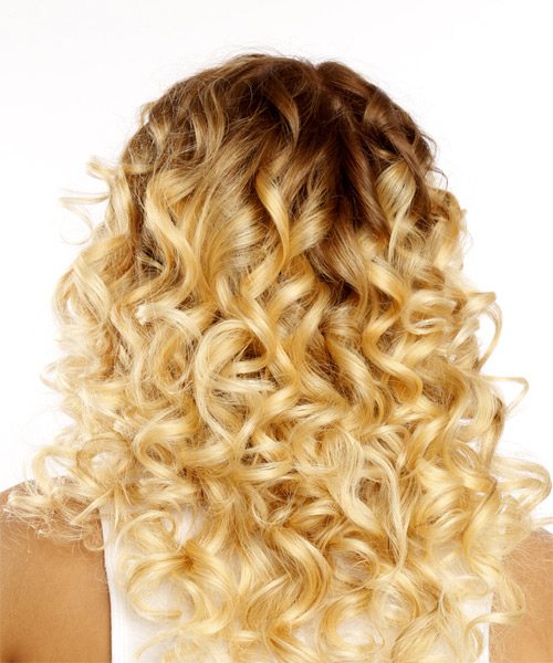 Medium Curly Casual Bob Hairstyle - Light Blonde - side view
