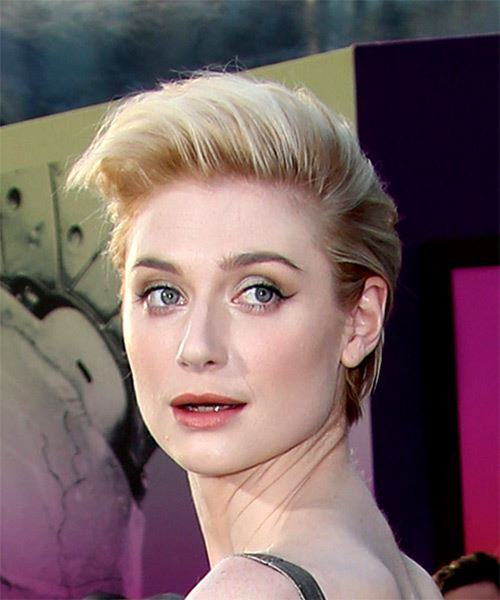Elizabeth Debicki Short Straight Casual Hairstyle - Light Blonde Hair Color - side view