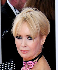 Lysette Anthony Short Straight Casual Pixie with Layered Bangs - Light Blonde - side on view