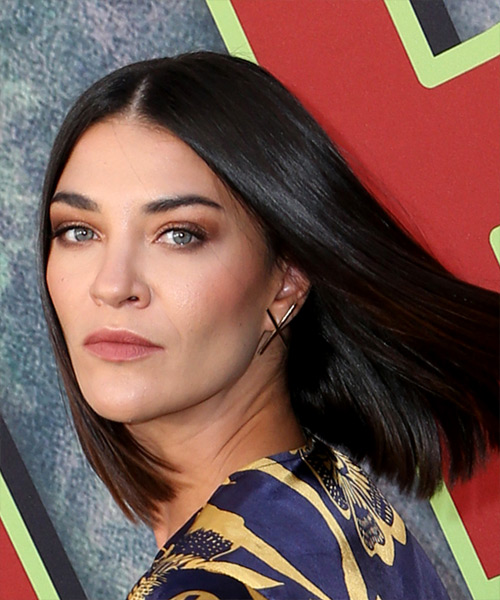 Jessica Szohr Medium Straight Formal Bob - side on view