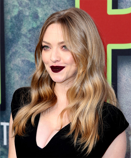Amanda Seyfried Long Wavy Casual Hairstyle - Light Blonde (Ash) Hair Color - side on view