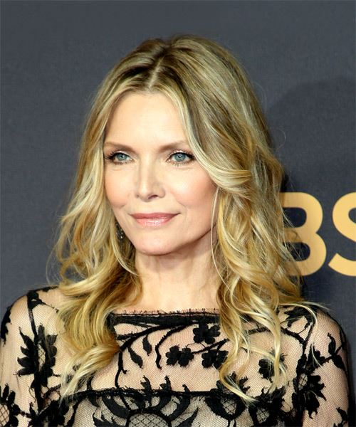 Michelle Pfeiffer Medium Wavy Casual Hairstyle - Medium Blonde Hair Color - side on view