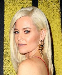 Elizabeth Banks Medium Straight Casual Bob with Side Swept Bangs - Light Blonde - side on view