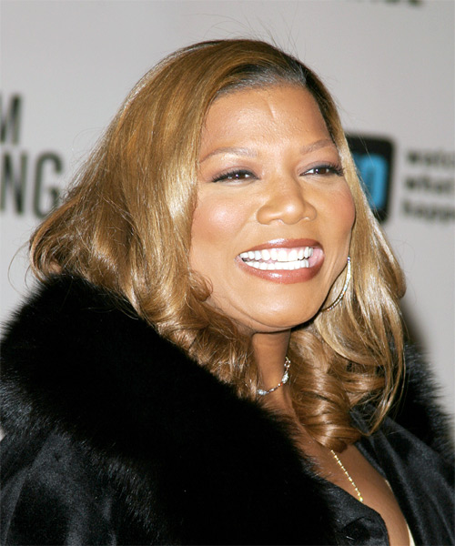 Queen Latifah Long Wavy Hairstyle - side view