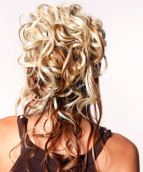 Miraculous Half Up Curly Formal Hairstyle Thehairstyler Com Hairstyles For Men Maxibearus