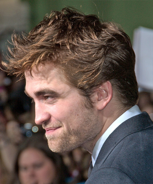 Robert Pattinson Short Straight Hairstyle - side view 2