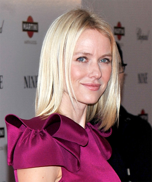 Naomi Watts Medium Straight Casual Hairstyle - side on view