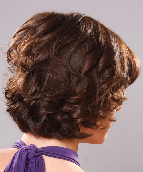 Short Wavy Formal Hairstyle - side view