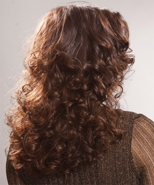 Long Curly Casual Hairstyle - side view 2