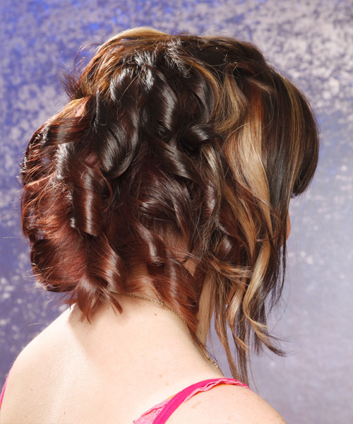 Medium Wavy Alternative Hairstyle - side on view