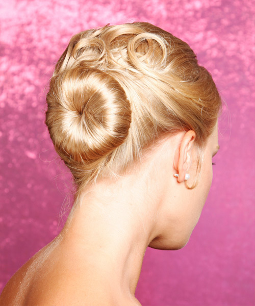 Curly Formal Updo Hairstyle - Medium Blonde (Golden) Hair Color - side on view