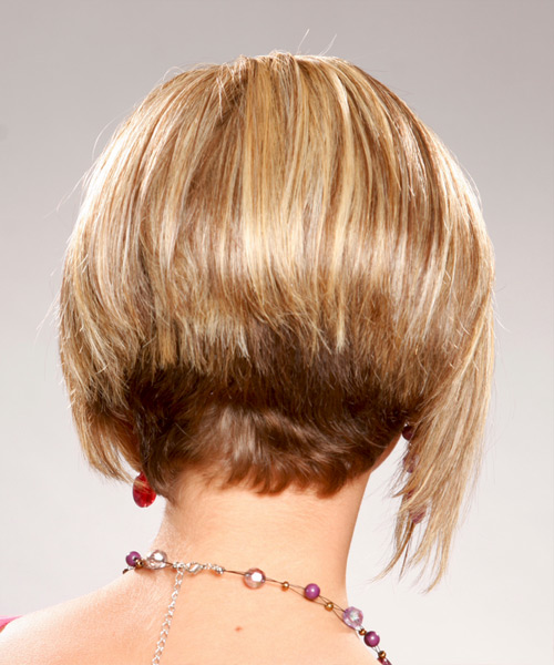 Short Straight Formal Hairstyle - Medium Blonde (Golden) - side view 2