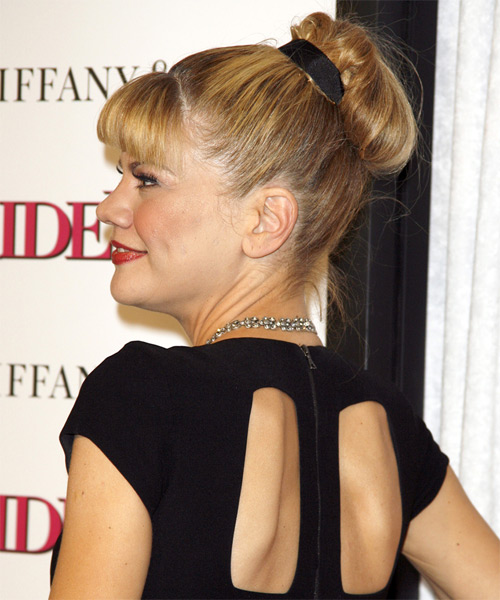 Kristen Johnston Updo Long Curly Formal  Updo - side on view