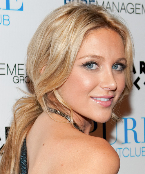 Stephanie Pratt - Casual Updo Long Curly Hairstyle - side view