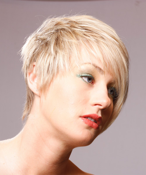 Short Straight Formal Hairstyle - side view 2