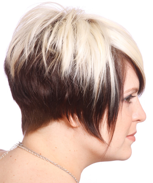 Short Straight Alternative Hairstyle - Light Blonde (Chocolate) - side view 2