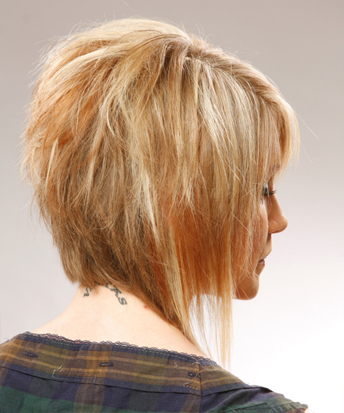 Medium Straight Casual Hairstyle - side view 2