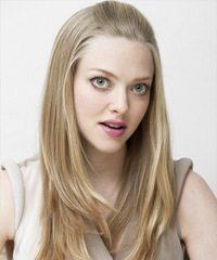 Amanda Seyfried Half Up Long Straight Casual  - side on view