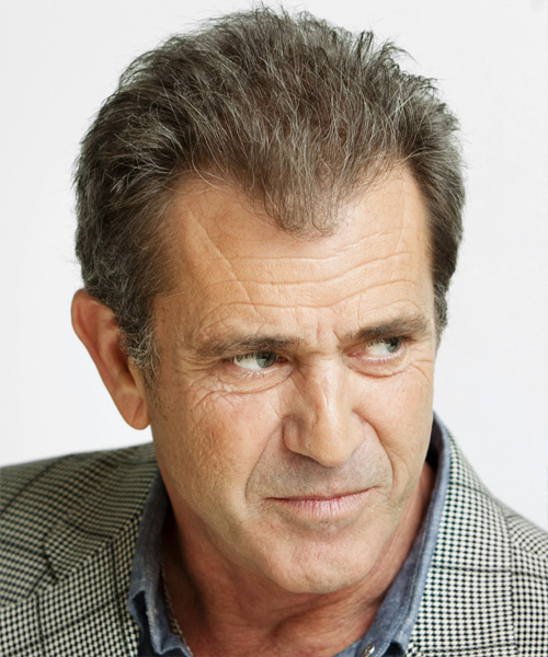 Mel Gibson Short Straight Casual - side on view