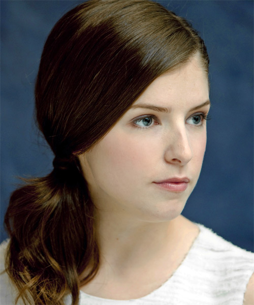Anna Kendrick - Casual Updo Long Curly Hairstyle - side view