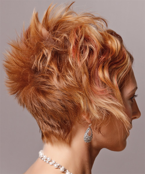 Short Wavy Alternative Hairstyle - side view