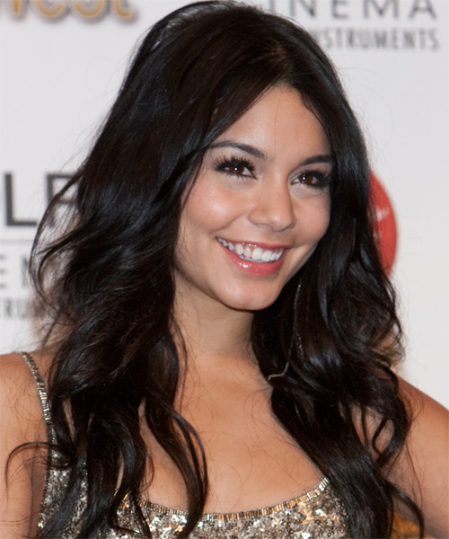 Vanessa Hudgens Long Wavy Casual Hairstyle - side on view