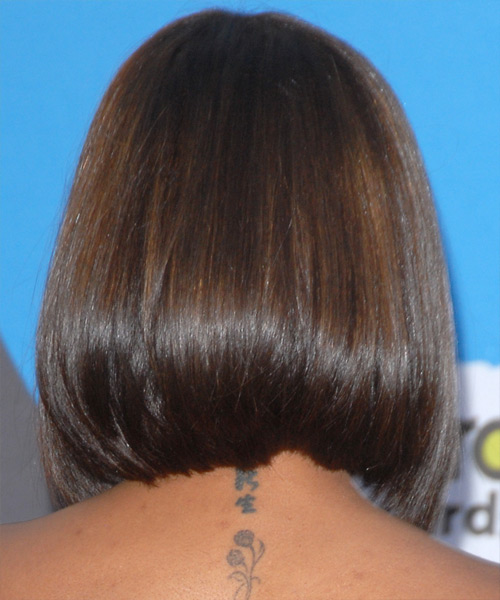 Janet Jackson - Formal Medium Straight Hairstyle - side view