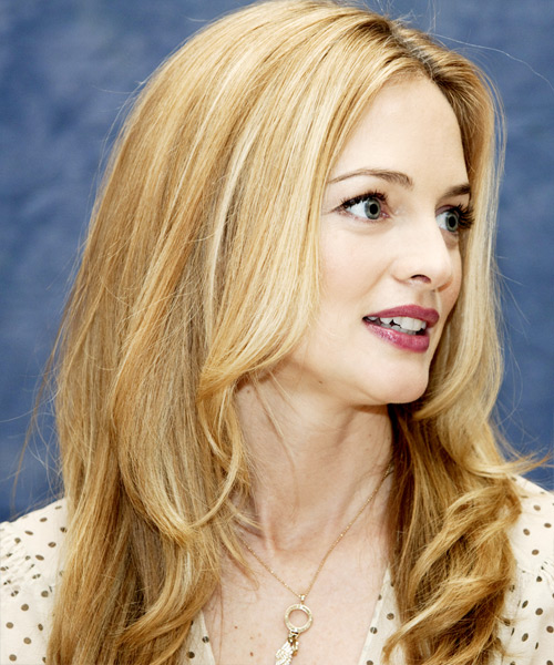 Heather Graham Long Wavy Formal Hairstyle - side on view