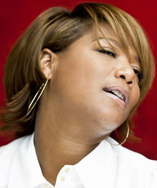Queen Latifah Short Straight Hairstyle - side view 2