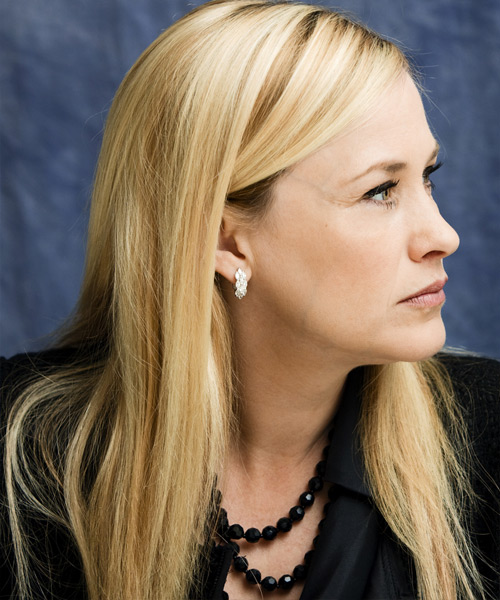Patricia Arquette  Long Straight Hairstyle - Light Blonde - side view 2