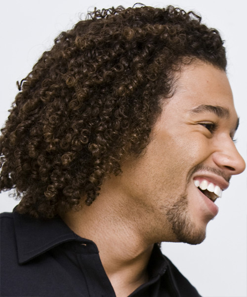 Corbin Bleu Medium Curly Casual Afro - side on view