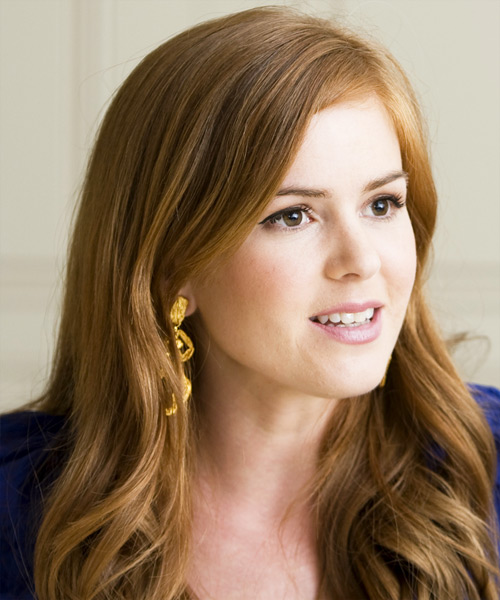 Isla Fisher Long Wavy Hairstyle - side view 2