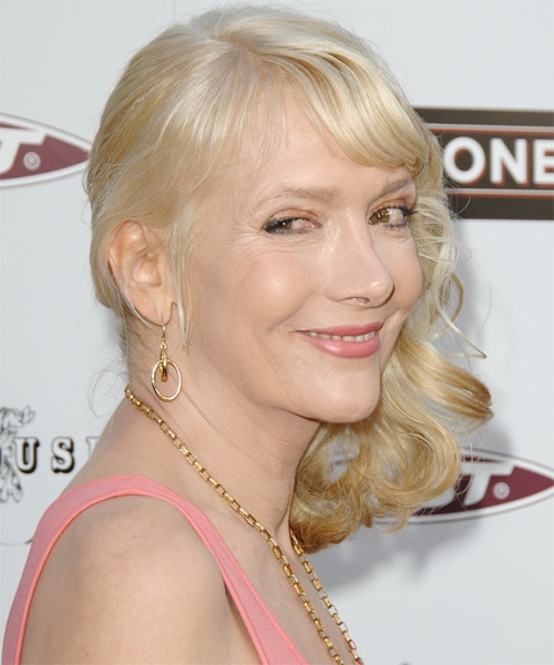 Glenne Headly Half Up Long Curly Formal - side on view