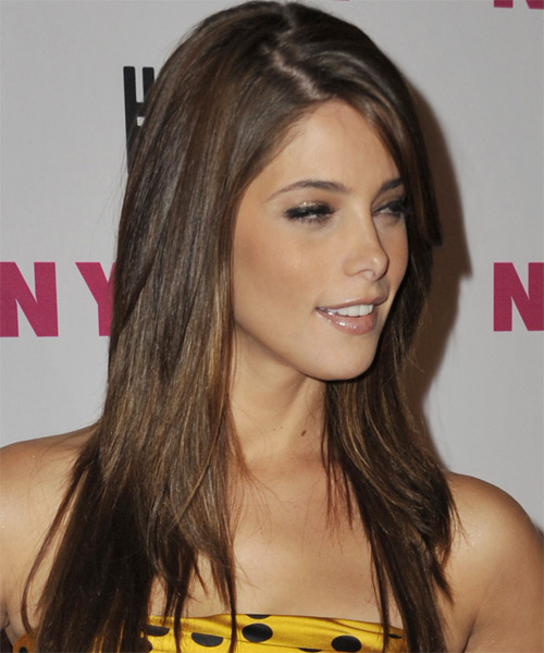 Ashley Greene Long Straight Casual Hairstyle - side on view