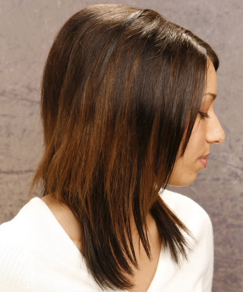 Casual Long Straight Hairstyle - side view